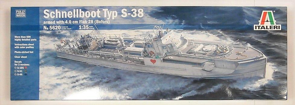 ITALERI 1/35 5620 SCHNELLBOOT S-38  UK SALE ONLY