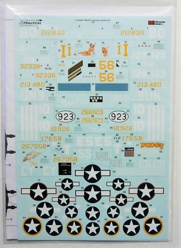 XTRADECAL 1/48 48215 LOCKHEED P-38F/G/H LIGHTNING COLLECTION PART 2