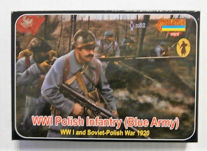 STRELETS 1/72 M130 WWI POLISH INFANTRY  BLUE ARMY
