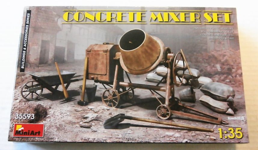 MINIART 1/35 35593 CONCRETE MIXER SET