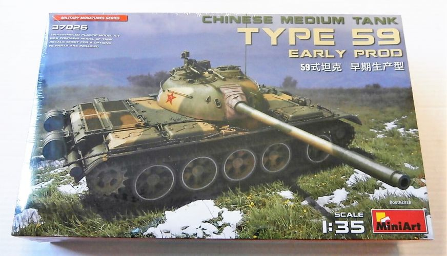 MINIART 1/35 37026 TYPE 59 EARLY PRODUCTION CHINESE MEDIUM TANK