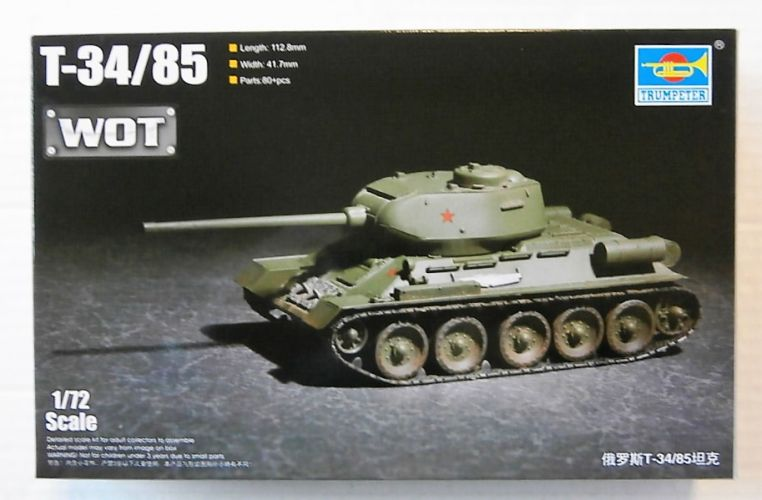 TRUMPETER 1/72 07167 RUSSIAN T-34/85