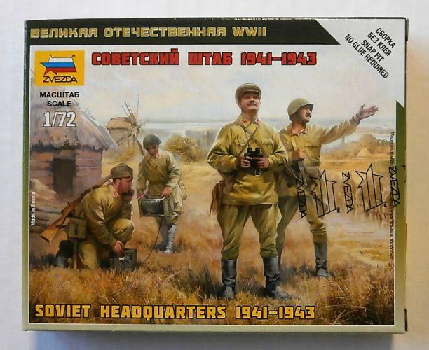 ZVEZDA 1/72 6132 SOVIET HQ STAFF 1941-1943