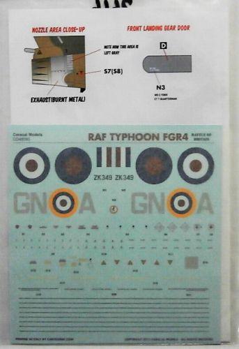 1/48 2646. CARACAL MODELS 48090 ROYAL AIR FORCE TYPHOON FGR4 BATTLE OF BRITAIN