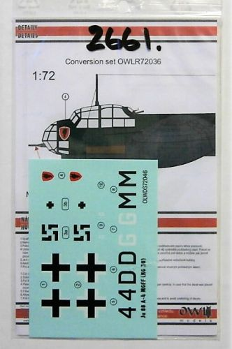 OWL DECALS 1/72 2661. 72036 Ju 88 A-4 WITH MG-FF
