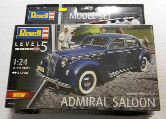 REVELL 1/24 67042 LUXURY CLASS CAR ADMIRAL SALOON  MODEL SET