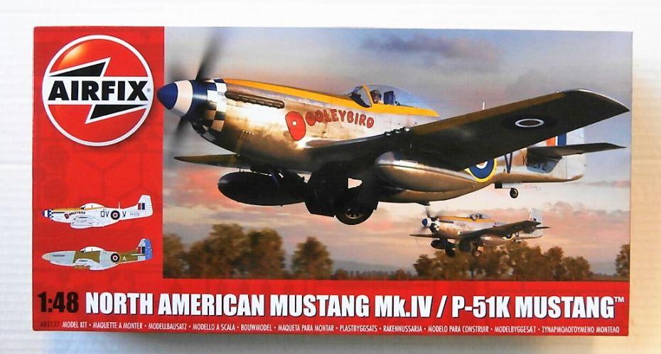 AIRFIX 1/48 05137 NORTH AMERICAN MUSTANG MK.IV/ P-51K MUSTANG