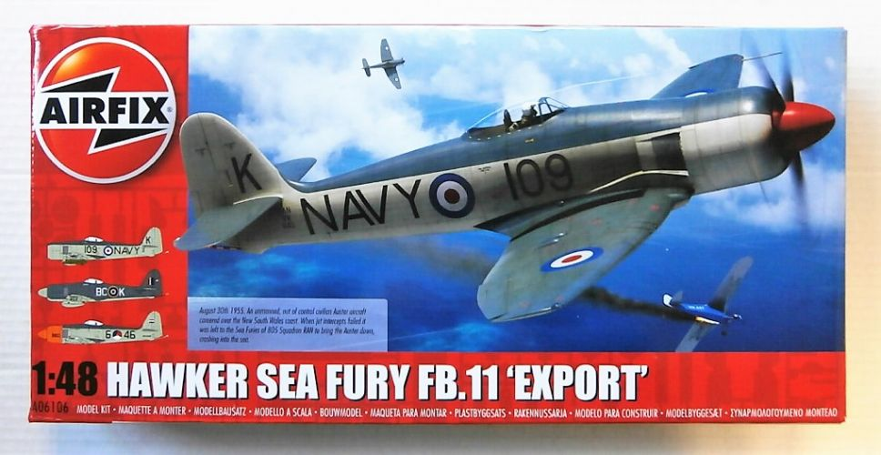 AIRFIX 1/48 06106 HAWKER SEA FURY FB.11 EXPORT