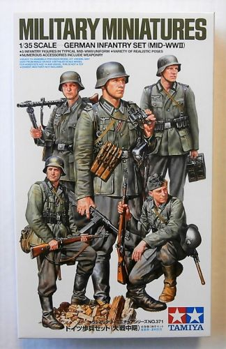 TAMIYA 1/35 35371 GERMAN INFANTRY SET MID WWII