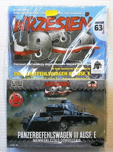 FIRST TO FIGHT 1/72 063 PANZERBEFEHLSWAGEN III AUSF.E COMMAND TANK