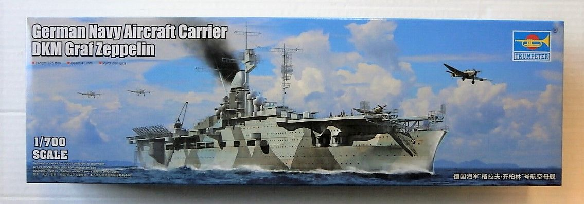 TRUMPETER 1/700 06709 GERMAN NAVY AIRCRAFT CARRIER DKM GRAF ZEPPELIN