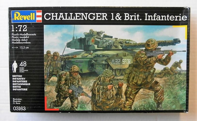 REVELL 1/72 03163 CHALLENGER/BRITISH INFANTRY