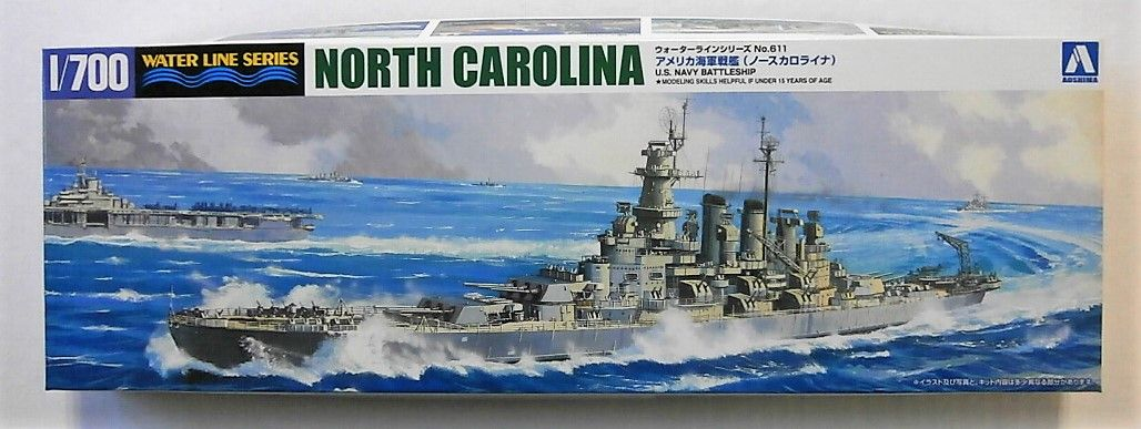 AOSHIMA 1/700 046005 USS NORTH CAROLINA