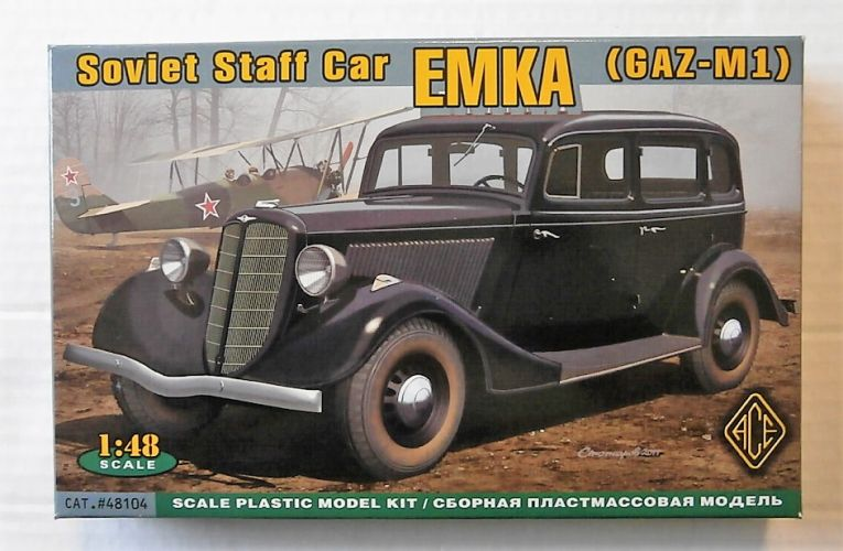 ACE 1/48 48104 EMKA  GAZ-M1  SOVIET STAFF CAR
