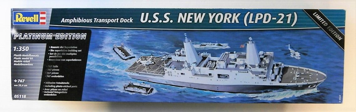 REVELL 1/350 05118 USS NEW YORK  LPD-21   UK SALE ONLY
