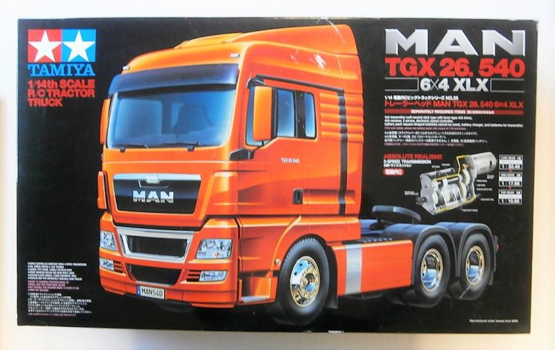 TAMIYA 1/14 56325 RADIO CONTROL MAN TGX 26.540 6x4 XLX  UK SALE ONLY