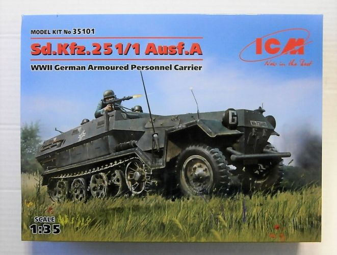 ICM 1/35 35101 SD.KFZ.251/1 AUSF.A WWII GERMAN ARMOURED PERSONNEL CARRIER