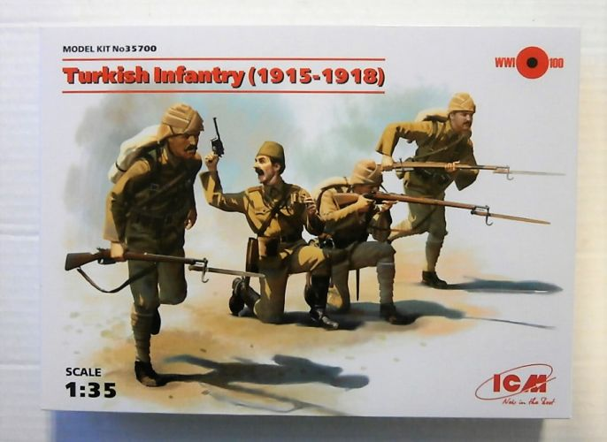 ICM 1/35 35700 TURKISH INFANTRY 1915-1918