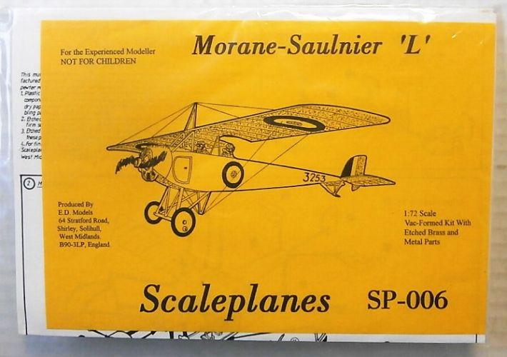SCALEPLANES 1/72 SP006 MORANE-SAULNIER L