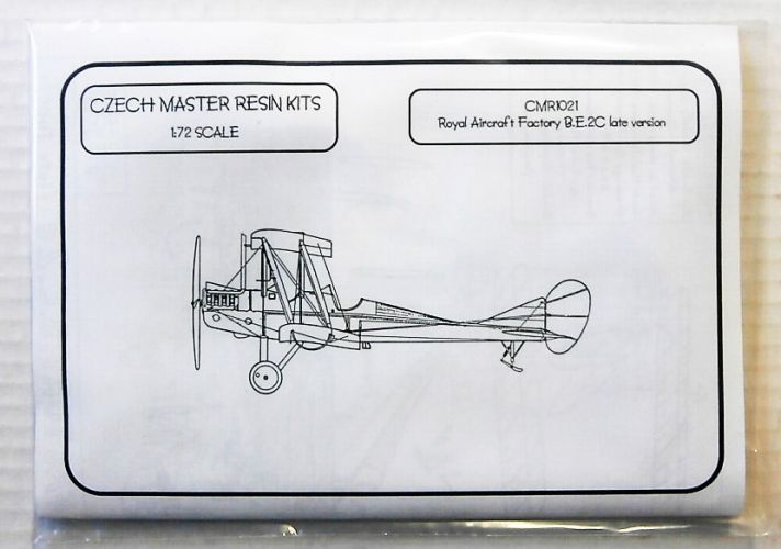 CZECH MASTER RESIN 1/72 1021 ROYAL AIRCRAFT FACTORY B.E.2C LATE VERSION