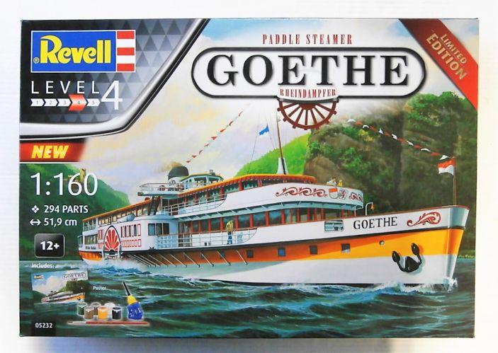 REVELL 1/160 05232 PADDLE STEAMER GOETHE RHEINDAMPFER GIFT SET