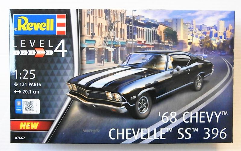 REVELL 1/25 07662 68 CHEVY CHEVELLE SS 396