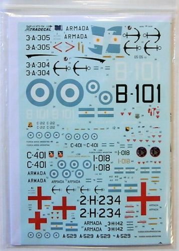 XTRADECAL 1/72 72154 FALKLANDS WAR 1982 ARGENTINA