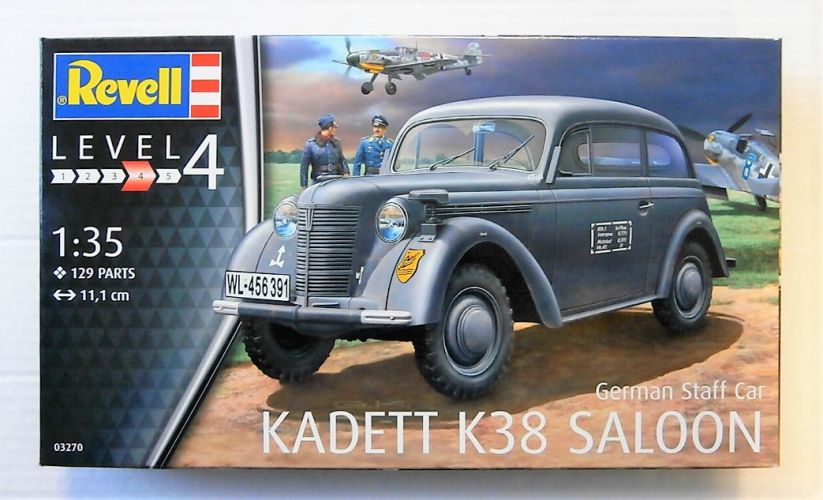 REVELL 1/35 03270 GERMAN STAFF CAR KADETT K38 SALOON