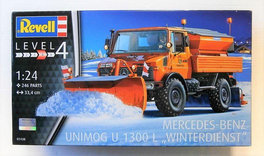 REVELL 1/24 07438 MERCEDES BENZ UNIMOG U 1300 L WINTERDIENST