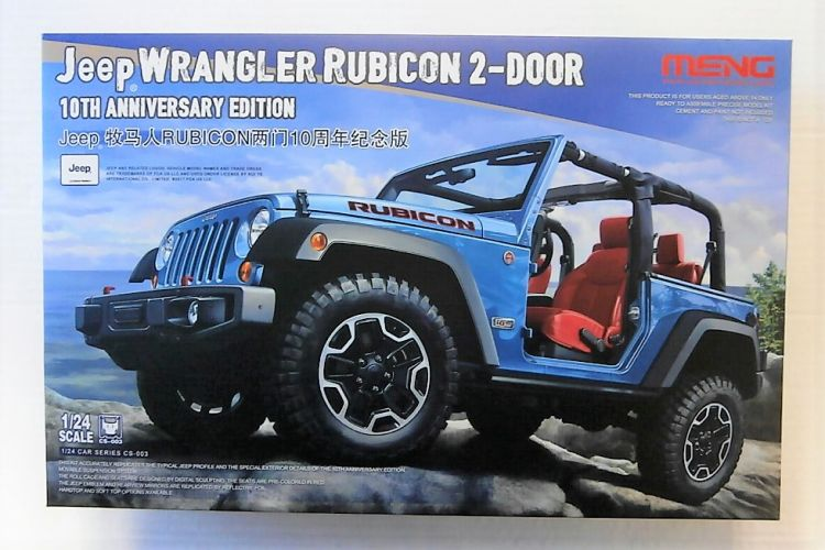 MENG 1/24 CS-003 JEEP WRANGLER RUBICON 2 DOOR 10TH ANNIVERSARY EDITION