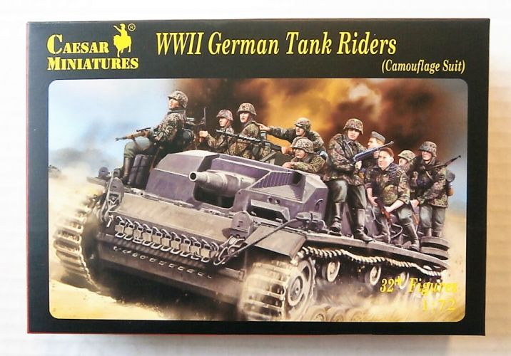 CAESAR MINATURES 1/72 H099 WWII GERMAN TANK RIDERS  CAMOUFLAGE SUIT