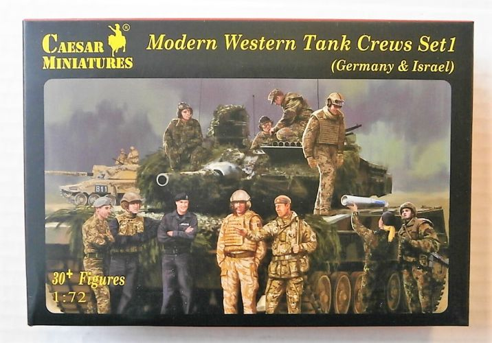 CAESAR MINATURES 1/72 H102 MODERN WESTERN TANK CREWS SET 1  GERMANY   ISRAEL