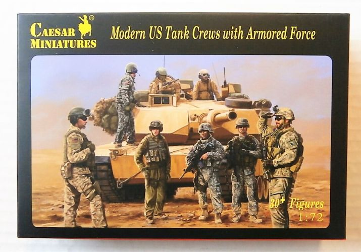 CAESAR MINATURES 1/72 H103 MODERN US TANK CREWS WITH ARMOURED FORCE