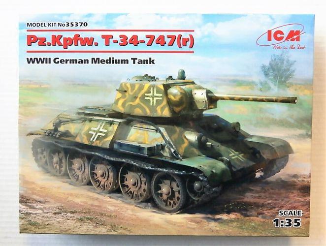 ICM 1/35 35370 PZ.KPFW. T-34-747 r  WWII GERMAN MEDIUM TANK