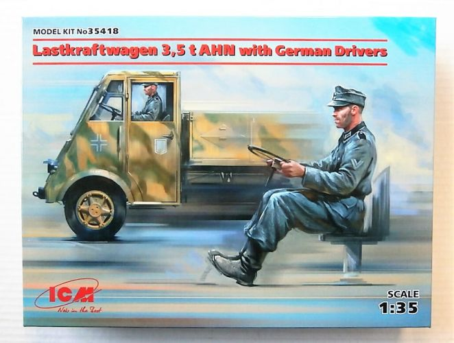 ICM 1/35 35418 LASTKRAFTWAGEN 3.5 T AHN WITH GERMAN DRIVERS