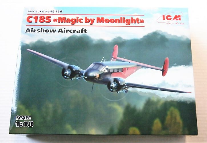 ICM 1/48 48186 BEECH C18S MAGIC BY MOONLIGHT AIRSHOW AIRCRAFT