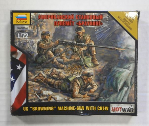 ZVEZDA 1/72 7414 US BROWNING MACHINE-GUN WITH CREW