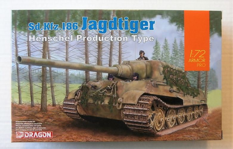 DRAGON 1/72 7563 Sd.KfZ.186 JAGDTIGER HENSCHEL PRODUCTION TYPE