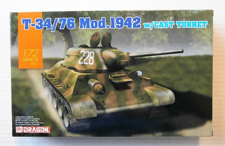 DRAGON 1/72 7601 T-34/76 MOD.1942 WITH CAST TURRET