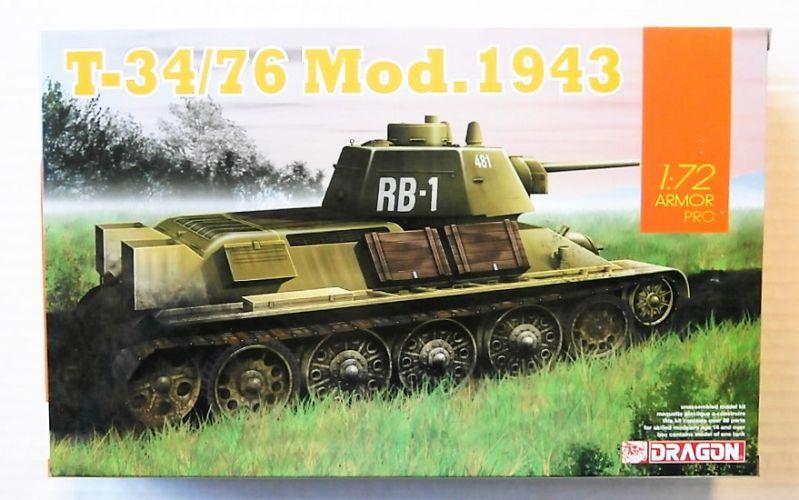 DRAGON 1/72 7596 T-34/76 MOD.1943