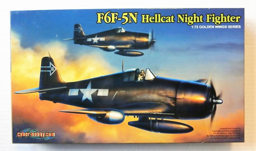 CYBER-HOBBYCOM 1/72 5080 F6F-5N HELLCAT NIGHT FIGHTER