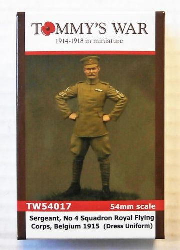 TOMMYS WAR 54mm 54017 SERGEANT No 4 SQUADRON ROYAL FLYING CORPS  BELGIUM 1915  IN DRESS UNIFORM