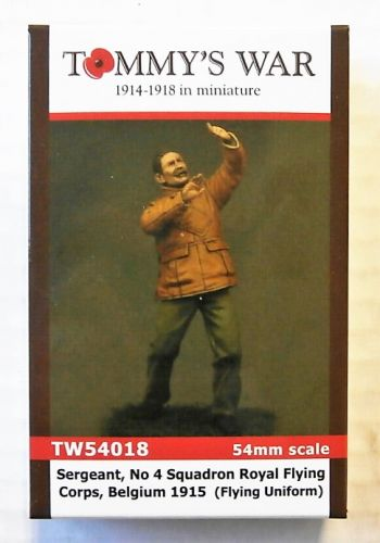 TOMMYS WAR 54mm 54018  SERGEANT No 4 SQUADRON ROYAL FLYING CORPS  BELGIUM 1915  FLYING UNIFORM