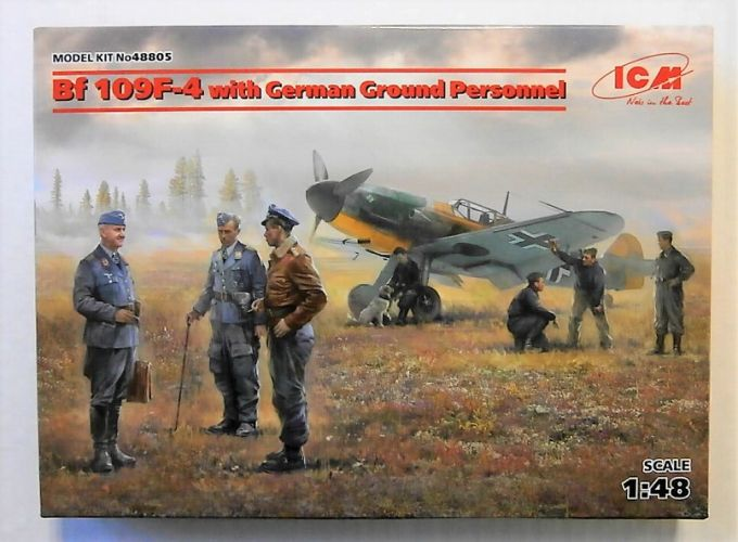 ICM 1/48 48805 BF 109F-4 WITH GERMAN GROUND PERSONNEL
