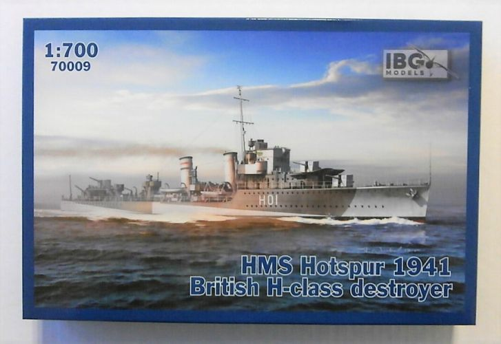 IBG MODELS 1/700 70009 HMS HOTSPUR 1941 BRITISH H-CLASS DESTROYER