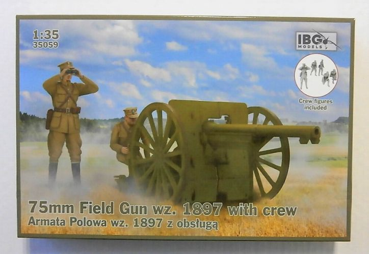 IBG MODELS 1/35 35059 75mm FIELD GUN WZ 1897