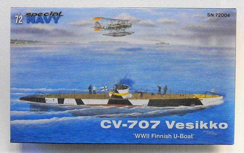 SPECIAL NAVY 1/72 72004 CV-707 VESIKKO WWII FINNISH U-BOAT
