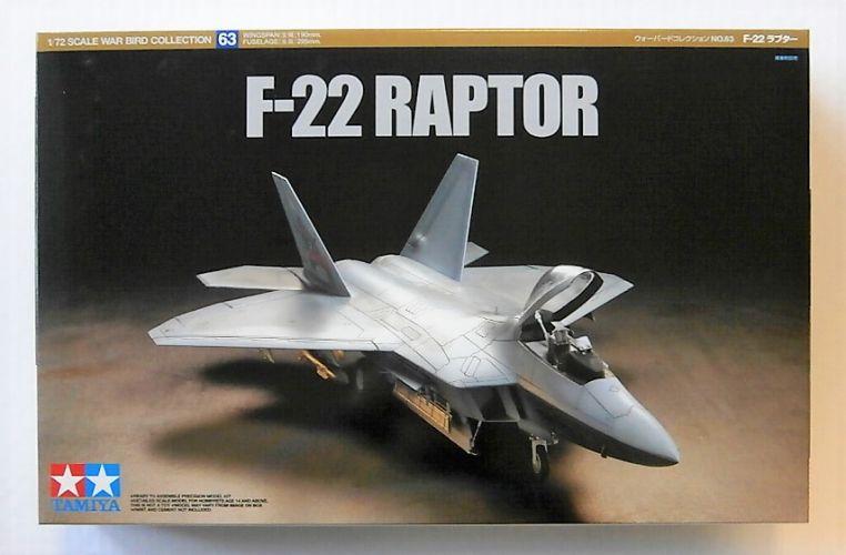 TAMIYA 1/72 60763 F-22 RAPTOR