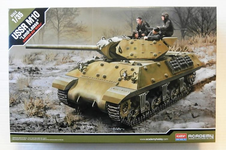 ACADEMY 1/35 13521 USSR M10 LEND-LEASE WITH FIVE FIGURES