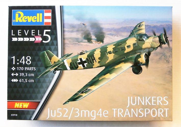 REVELL 1/48 03918 JUNKERS JU52/3MG4E TRANSPORT